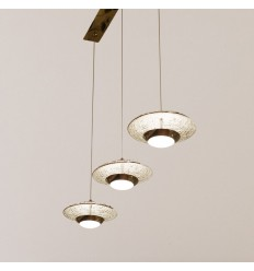 Suspension style trois soucoupes LED - Volga