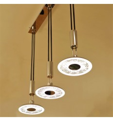 Suspension trois disques design LED - Yukon