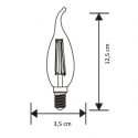 Ampoule chic filament LED - Culot E14 4W