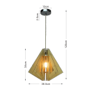 Suspension élégante style lampion en bois - Nabi
