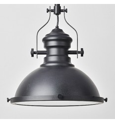 Suspension Industrielle Noire - Neris
