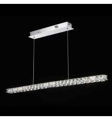 Suspension cristal LED barre horizontale design - Kirn