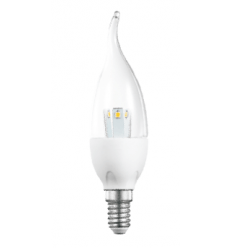 Ampoule flamme LED E14 - 3W - blanc chaud