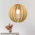 Suspension en bois ronde design - Gengis
