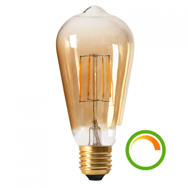 Ampoule allongée à filament ambrée LED E27 8w
