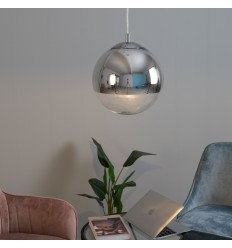 Suspension boule verre transparent - Globe 30 cm