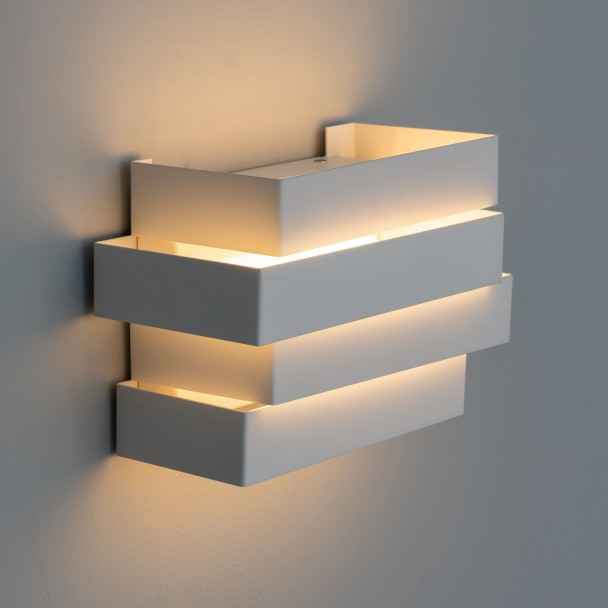 Applique LED moderne design Scala 6W - blanc