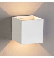 Applique LED design Cubic - blanc