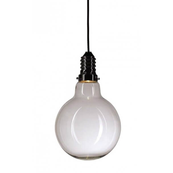 Suspension led design en verre transparent 3 watt edimbourg for Suspension en solde