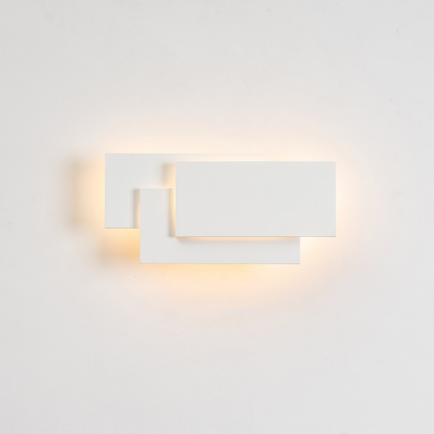 LED Applique design tripartie blanche - Trio