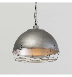 Suspension industrielle gris antique - Zane
