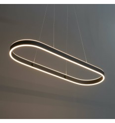 Suspension ultra design noir en LED - Apollo