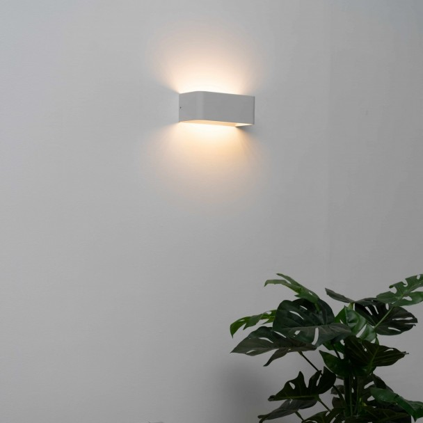 Applique murale LED blanc design Quadra 6 w - 20 cm - Quadra