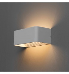 Applique murale LED blanc design Quadra 6W - 20cm