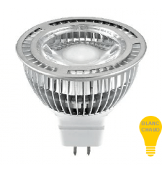 Spot LED COB MR16 - 5W - Blanc chaud