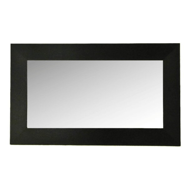 Miroir rectangle noir bois 100 cm for Miroir noir design