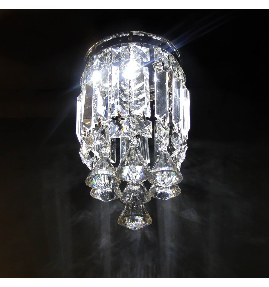 Plafonnier cristal led design chic ice - Plafonnier design led ...