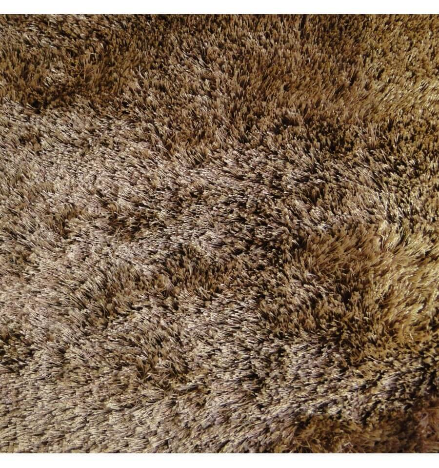 Grand tapis shaggy design helsinki taupe marron clair 200cm Grand tapis clair