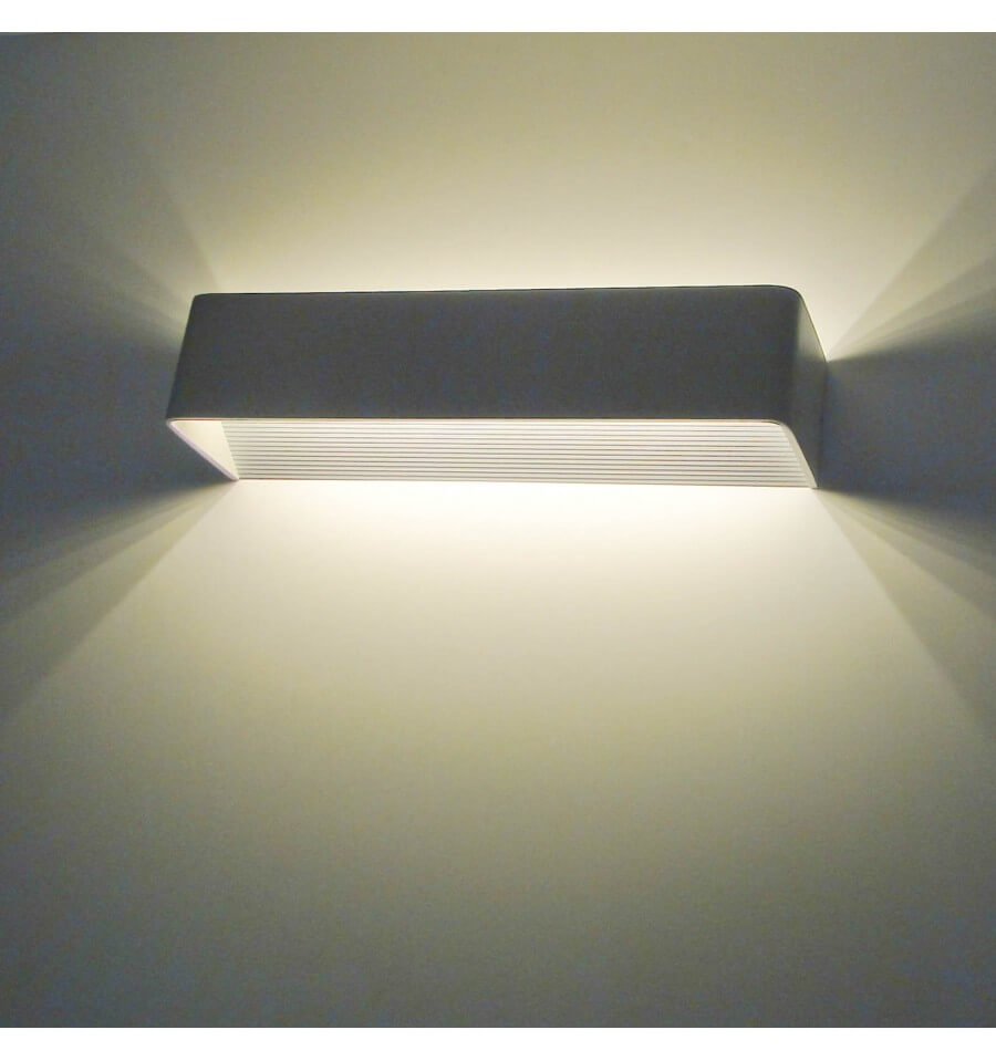 Applique murale led design rectangle quadra 12w - Applique murale design noire ...