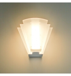 Applique murale LED blanche Piany 8x1W