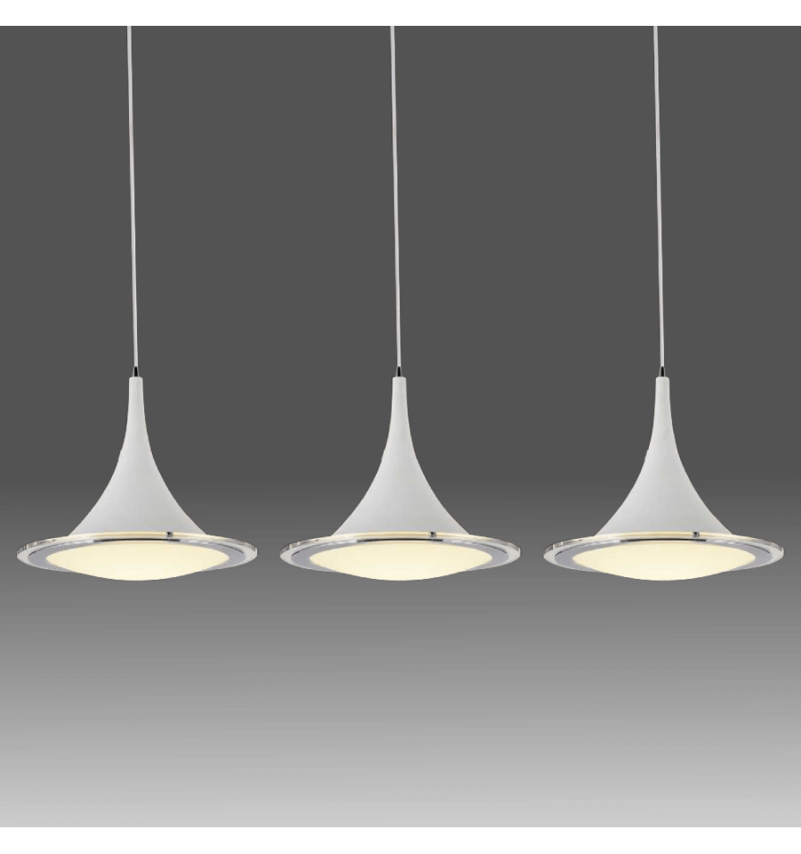 Suspension blanche triple lumi re led design sydney for Suspension blanche design