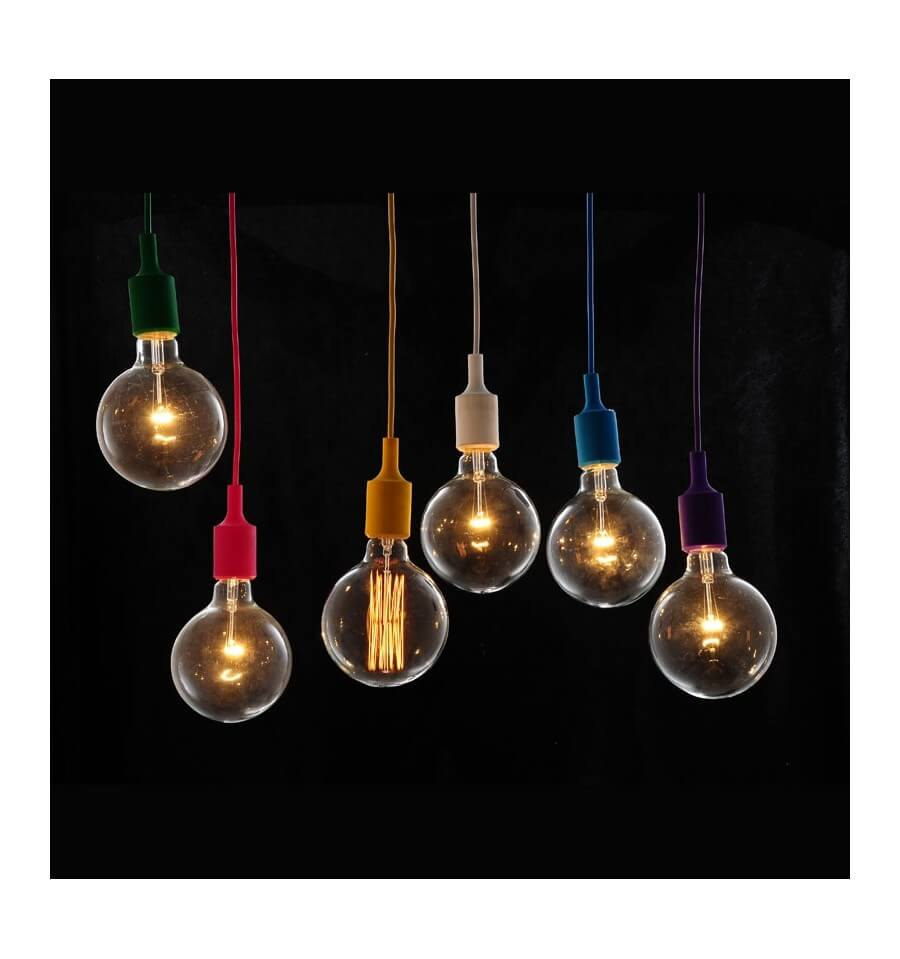 Suspension design rouge ampoule filament