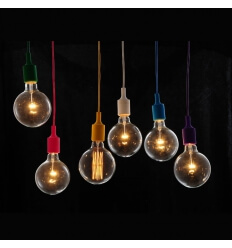 Suspension simple orange fluo + ampoule filament