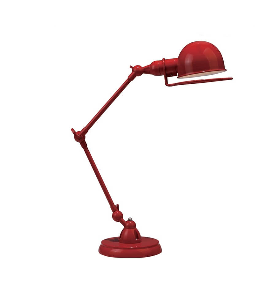 Lampe de bureau design rouge e14 milla for Lampe de bureau rose