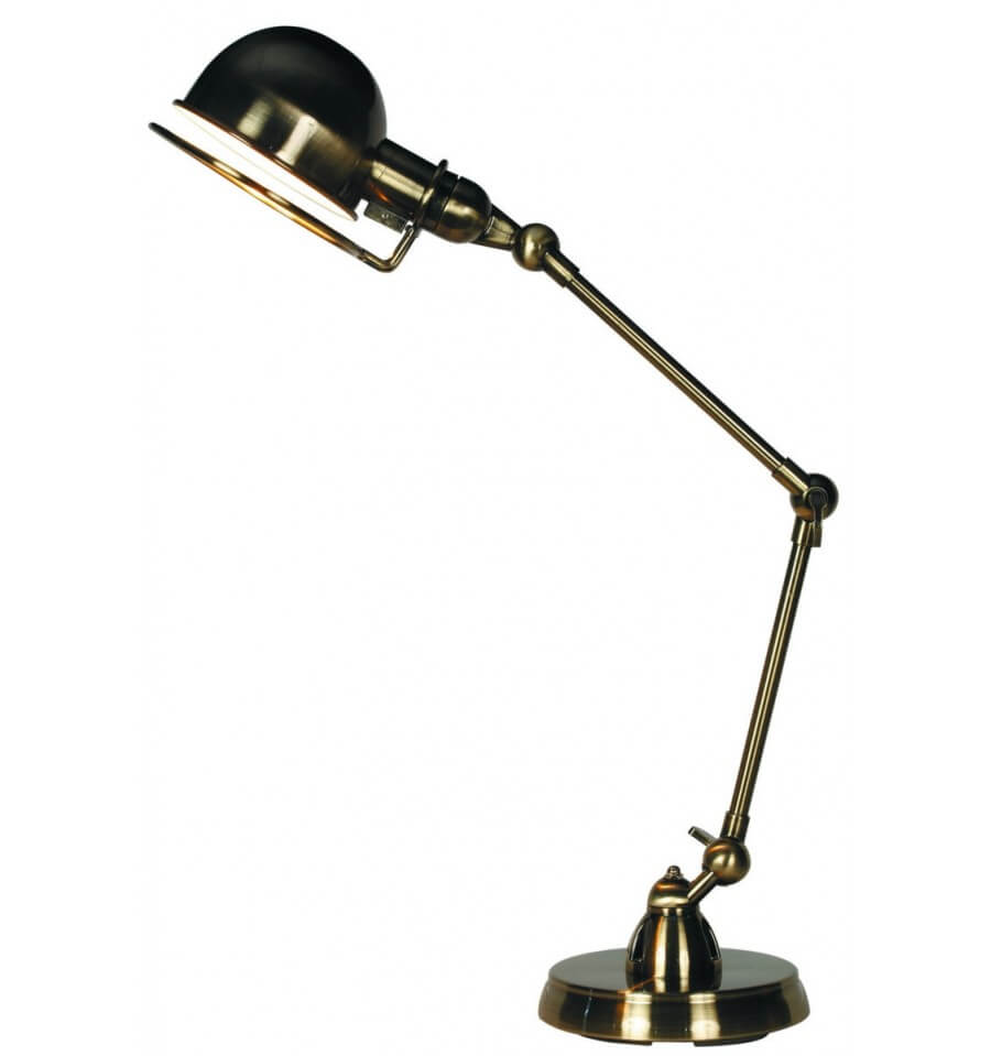 lampe de bureau design couleur nickel e14 milla