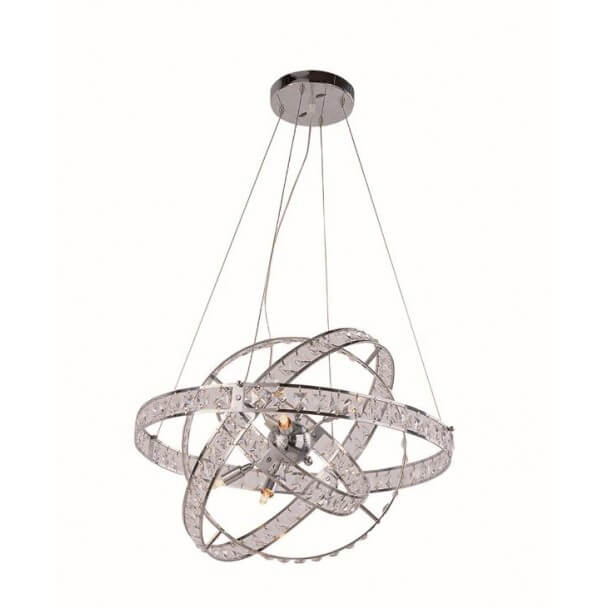 Suspension cristal chromée ultra design Spellina