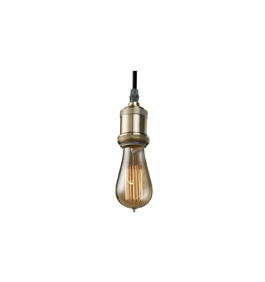 Suspension retro industrielle ampoule filament for Suspension luminaire ampoule