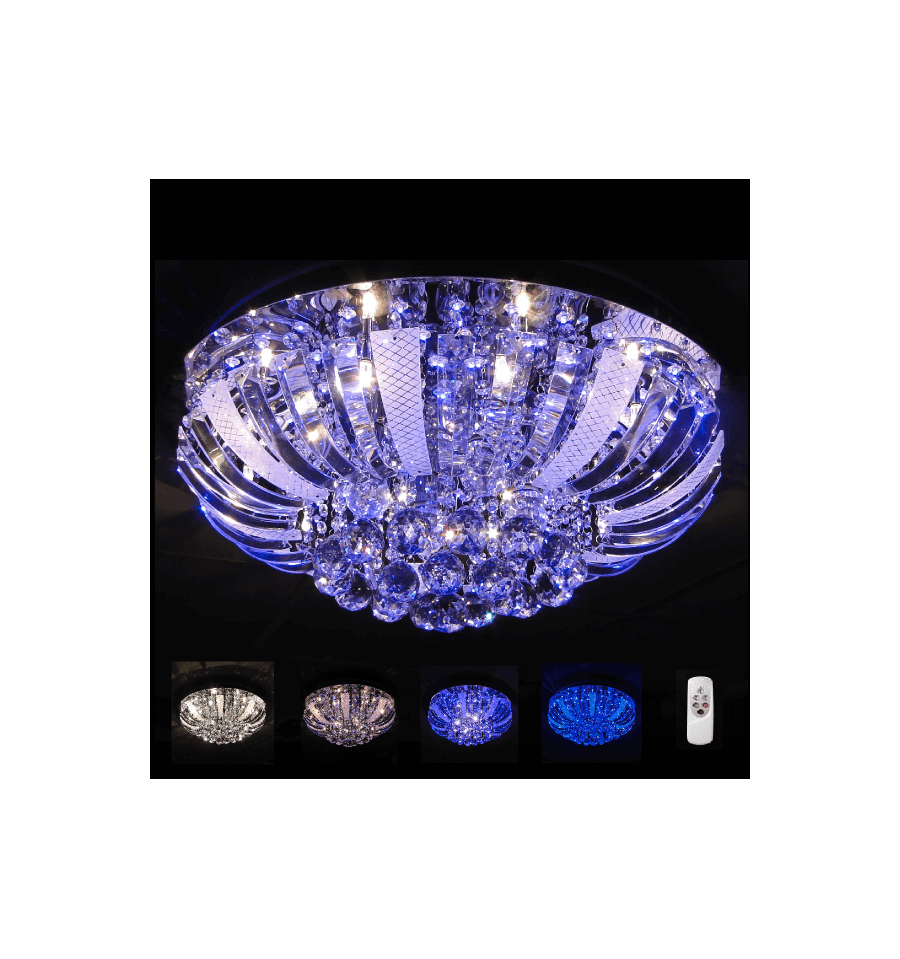 plafonnier led bleu cristal las vegas. Black Bedroom Furniture Sets. Home Design Ideas