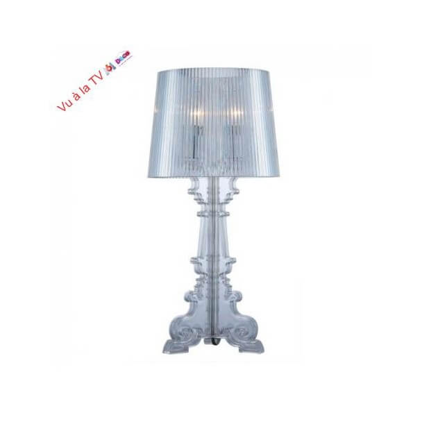 Lampe de chevet baroque argent e 2xe14 cello - Lampe de chevet baroque ...