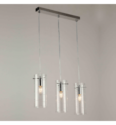 Suspension design tube verre triple