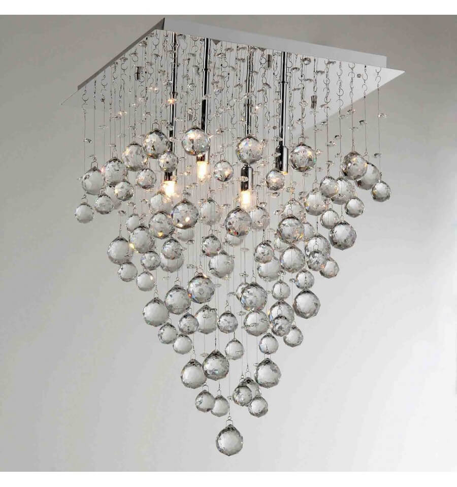 Grand lustre cristal design arbre for Lustre en cristal