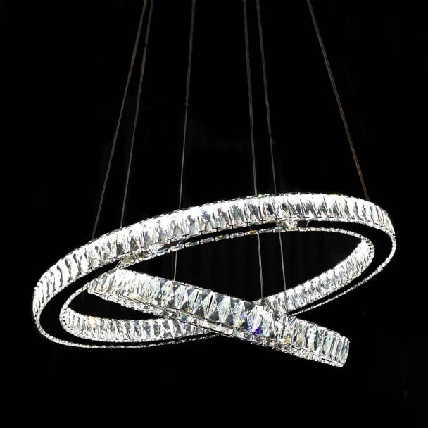 Suspension design cristal LED Ambrogio