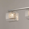 Suspension barre design chrome 4 lampes