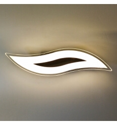 Applique murale design chrome LED Flama