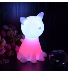Lampe de chevet chat LED sans fil rechargeable multicouleurs