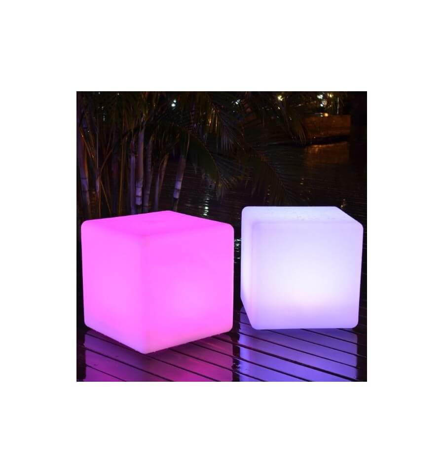 cube led lumineux rgb 40x40 cm. Black Bedroom Furniture Sets. Home Design Ideas