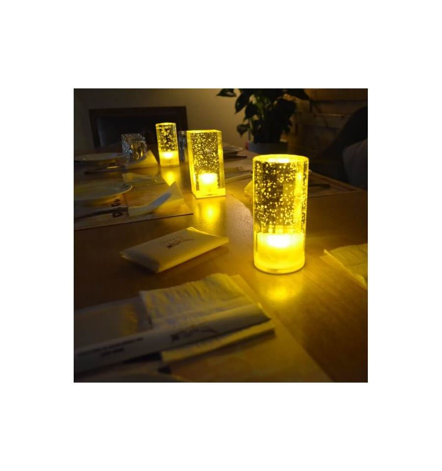 Bougie artificielle led cylindrique - Bougie led rechargeable ...