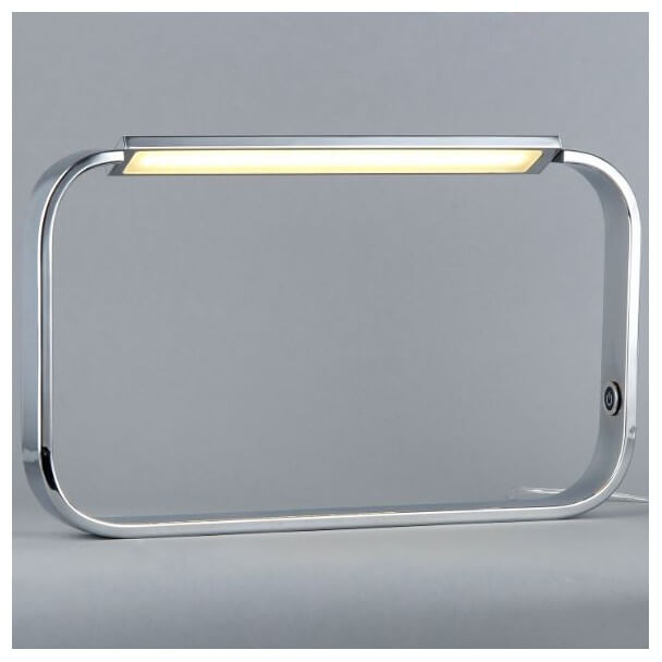 Lampe poser design chrome led relax for Lampe a poser rectangulaire