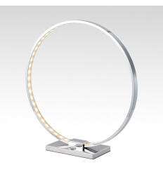 Lampe à poser design chrome LED - Collection Circle
