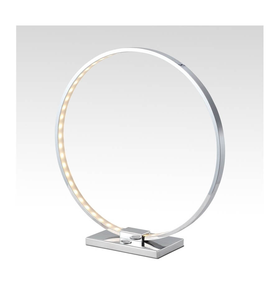 lampe poser design chrome led collection circle. Black Bedroom Furniture Sets. Home Design Ideas