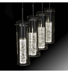 Lustre plafonnier design et chic kosilum for Suspension verre transparent