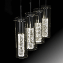 Suspension design cylindre verre New York