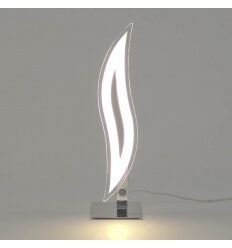 Lampe à poser design chrome LED Flama