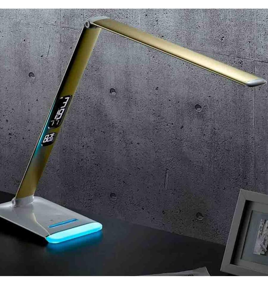 lampe de bureau led multicolore avec calendrier et intensit variable. Black Bedroom Furniture Sets. Home Design Ideas