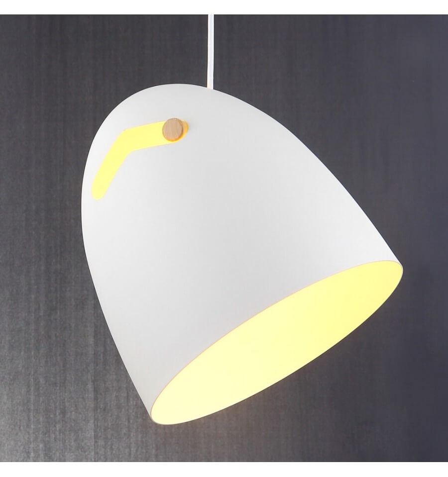 Suspension blanche design latest suspension design boule for Suspension blanche design