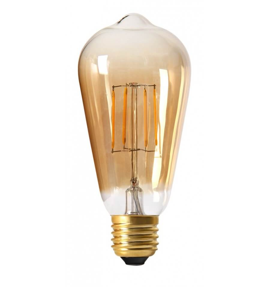 Ampoule led e27 4w filament et verre ambr blanc chaud for Offerte lampadine a led e 27